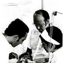 Image of Dentist, Dr. Roy Velling with counterparts working at Dental School, Natal.