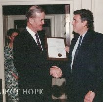 Image of Presentation of award to Bill Walsh.
