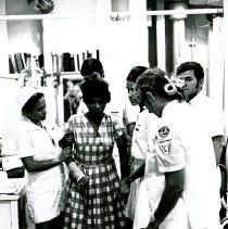 Image of Physical Therapy Department of ship with Sister Theophane Mandragos.