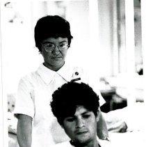 Image of Medical-Surg nurse, Donna Calliari, in men's ward