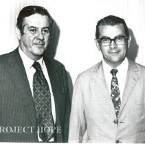 Image of Dr. Walsh and Jarbas Passarinho, Minister of Education.