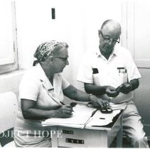 Image of Dr. and Mrs. William Fleming at family planning center Hospital Maternidade
