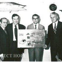 Image of Governor of State Jose Cortez Pereira, Dr. Walsh, Minister and Rector.