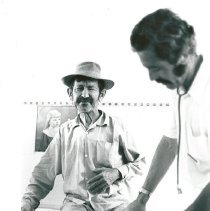 Image of Dr. Gunn and patient