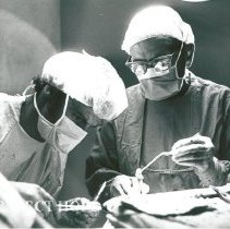Image of Dr. Voris neurosurgeon on right with counterpart