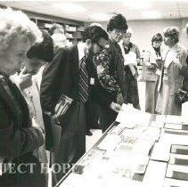 Image of Tour of HOPE Center - Print Shop, Carol Fredriksen and Alice Mild