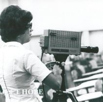 Image of Susan Agnew video taping.