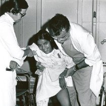 Image of A young patient on the SS HOPE.