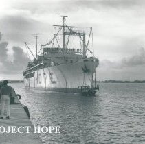 Image of SS HOPE arriving in Maceio.