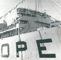 Image of SS HOPE arrival in Maceio
