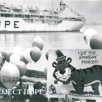 Image of SS HOPE arriving in Baltimore from Natal.