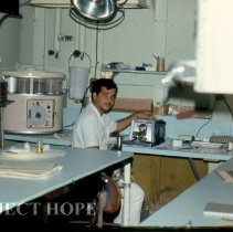 Image of Cardoso in the Histology Lab
