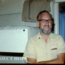 Image of Pastor Rowland Westervelt in doctor's sleeping area.