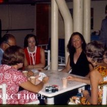 Image of Card playing on the Boat Deck, Sue Callan, Sue Willson and others