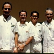 Image of Ron Neafie, Parasitologist, with Dermatology counterparts