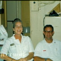 Image of Dr. Ivonne Simon, Pathologist and Ron Neafie, Parasitologist