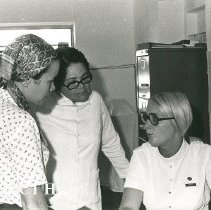 Image of Nancy Anderson, shore secretary, with counterpart and patient
