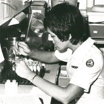 Image of Analice Decker, Medical Technologist, working in laboratory