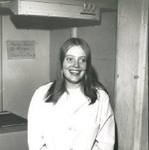Image of Jan Dutcher, receptionist, on SS HOPE
