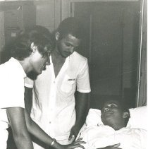Image of Judy Henderson with counterpart and patient