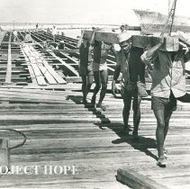 Image of Construction of a new pier for the SS HOPE