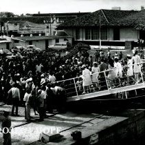 Image of SS HOPE arriving in Natal, Brazil, 1972, on Ash Wednesday