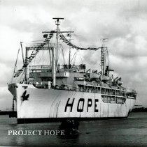 Image of SS HOPE arriving in port at Natal, Brazil