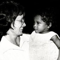 Image of Sheila Clarke, Pediatric nurse, with patient