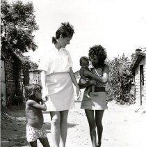 Image of Mary Ann Small, Public Health nurse, visiting homes