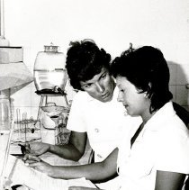 Image of Doris Knapp, Medical Technologist, with counterpart