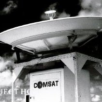Image of COMSAT dish used for communication.