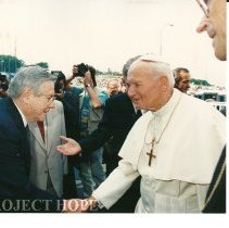 Image of Dr. Walsh with Pope John Paul II