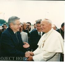 Image of Dr. Walsh and John Paul II