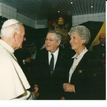 Image of John Paul II with Dr. and Mrs. Walsh