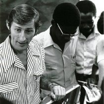 Image of Sanitarian Educator Tom Kirby explaining a piece of equipment.