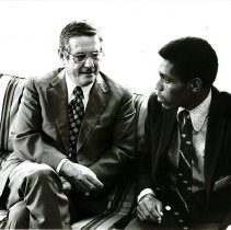 Image of Erskine Gittens (PHI from Barbados) with Dr. Walsh at Headquarters.