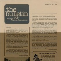 Image of the bulletin November 1977 Vol. 1 No. 1 Page 1