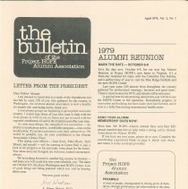Image of Newsletters - the bulletin of the Project HOPE Alumni Association April 1979, Vol. 2, No. 1
