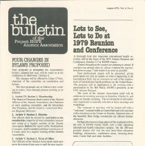 Image of the bulletin August 1979, Vol. 2, No. 2, Page 1