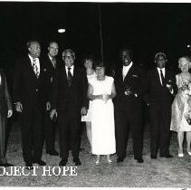 Image of Dr Royaltey, Ellemire, PM Shearer, Capt Howe, Judy Shaw, Melzers, Campbell