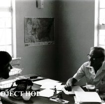 Image of Orientation for Dr Guy Marrocco with Dr Rufus Morrow, Program Director