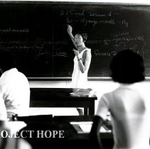 Image of Patsy Lee Charles teaching a med tech class.