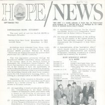 Image of HOPE/NEWS September/1963  page 1