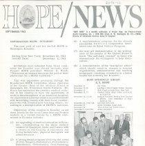 Image of Newsletters - HOPE/NEWS September/1963