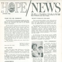 Image of Newsletters - HOPE/NEWS January/1964