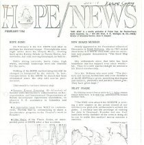 Image of HOPE/NEWS February/1964  page 1