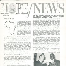 Image of Newsletters - HOPE/NEWS March/1964