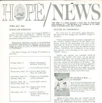 Image of HOPE/NEWS April/May 1964 page  1