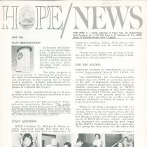 Image of Newsletters - HOPE/NEWS June 1964