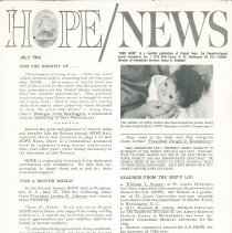 Image of Newsletters - HOPE/NEWS July 1964